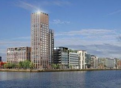 The new development planned for the Docklands.