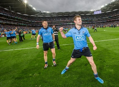 Jack McCaffrey celebrates Dublin's All-Ireland win last September.