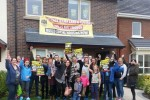 Homeless families occupying show house end protest but vow to continue fight