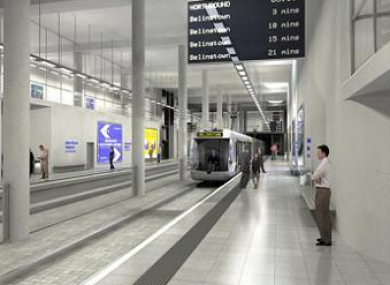 How Ballymun Metro stop would have looked.
