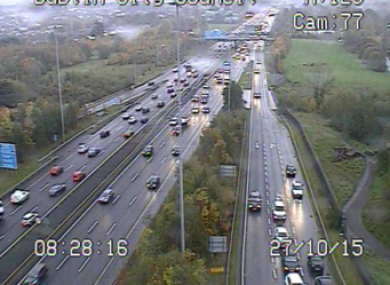 The M50 this morning.