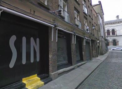 Sin nightclub on Dublin's Sycamore Street