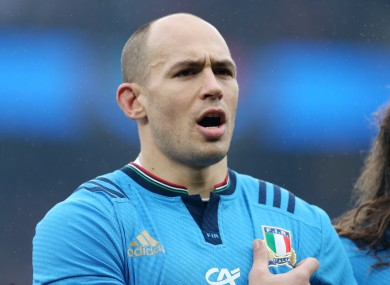 Parisse is making his first appearance at the tournament.