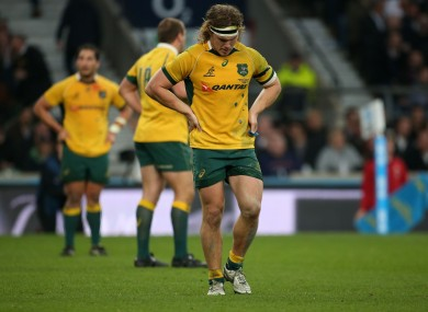 The incident occurred during Saturday's 33-10 win over England.