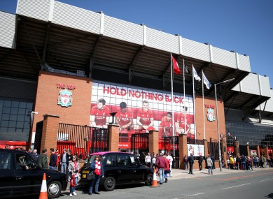 Liverpool's Anfield home.