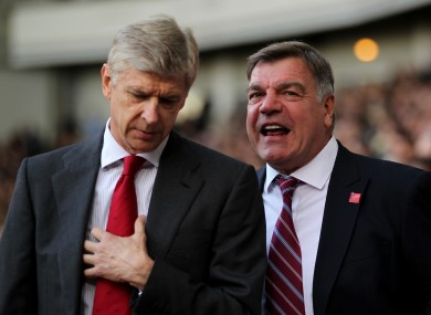 Wenger and Allardyce.