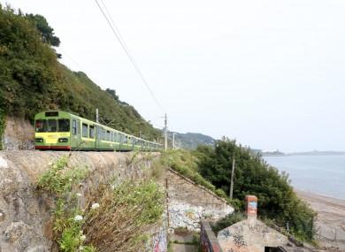 The DART line near Killiney.
