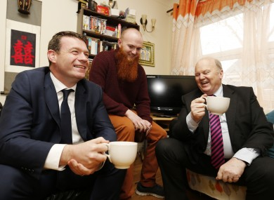 Alan Kelly and Michael Noonan announce the rent measures last week