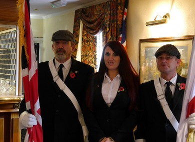 Britain First deputy leader Jayda Fransen (centre) at the conference.