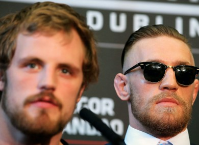 UFC stars Gunnar Nelson and Conor McGregor.
