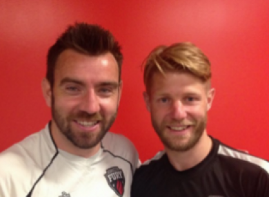 Colin Falvey (left) and Richie Ryan are enjoying a fantastic season.