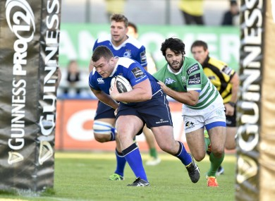McGrath scored a try on his return to the blue jersey on Sunday.