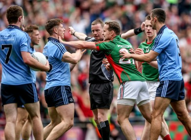 Joe McQuillan took charge of the drawn All-Ireland semi-final between Dublin and Mayo.