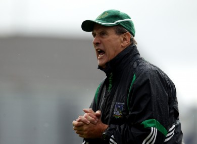 Justin McCarthy during his time as Limerick senior hurling manager.