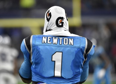 Cam Newton ran for another touchdown last night as his team outplayed the Cowboys.