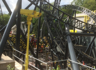 Those on the ride were stuck for hours before being removed by emergency services.