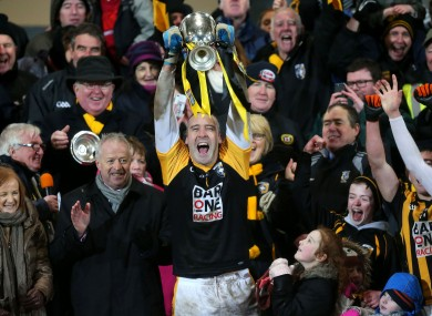 Friends reunited: Paul Hearty lifts Crossmaglen's latest Ulster title.