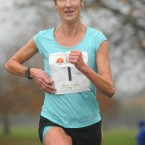 Catherina McKiernan, Analee AC, Co. Cavan, on her way to winning, the Remembrance Run 5k.<span class=