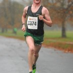 Jack O'Leary, Mullingar Harriers AC, nephew of Ryanair CEO Michael O'Leary, on his way to winning, the Remembrance Run 5k.<span class=