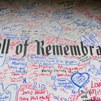 A general view of the Wall Of Remembrance.<span class=