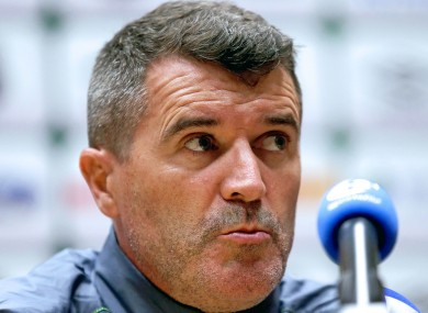 Keane was in front of the media as Ireland's preparations for Friday continued.