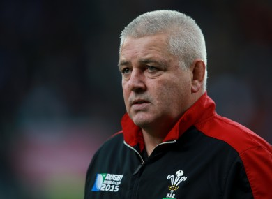 Gatland has been in charge since December 2007.