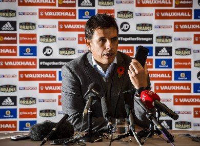 Coleman at this morning's press conference.