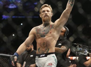 UFC interim featherweight champion Conor McGregor.