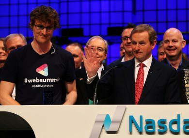 Taoiseach Enda Kenny with Web Summit co-founder Paddy Cosgrave at last year's event.
