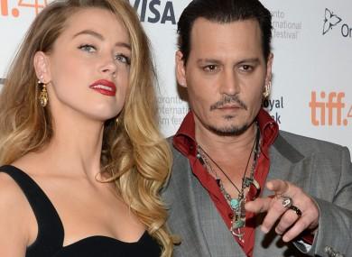 Johnny Depp, right, and Amber Heard.