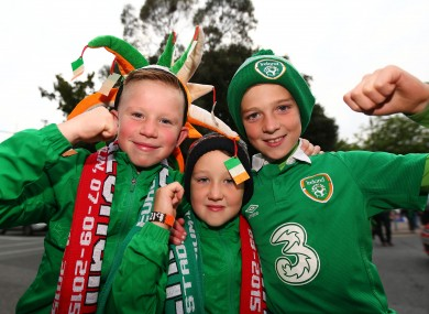 Ireland fans are expected to travel in large numbers.