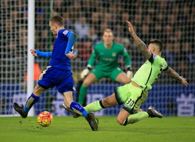 Jamie Vardy and Leicester were held scoreless by City on Tuesday night.