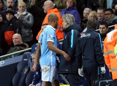 Kompany limped off during the win against Sunderland.