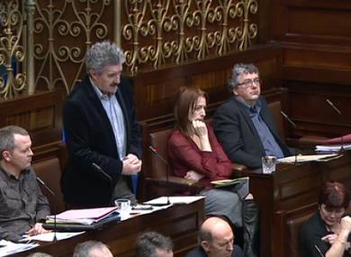 John Halligan speaks to the Dáil today.
