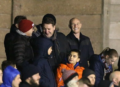 Salford City co-owner Nicky Butt in the stands (file pic),