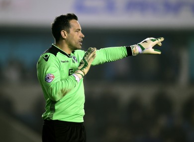 David Forde lost his place in the Millwall side earlier this season.