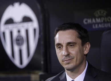Gary Neville was appointed Valencia coach earlier this month.