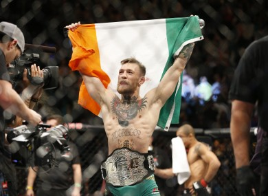 McGregor claimed the UFC featheweight title over the weekend.
