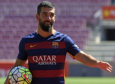 Barcelona midfielder Arda Turan joined the club in the summer.