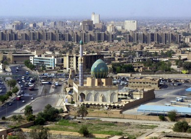 An aerial view of Baghdad, the capital city of Iraq.