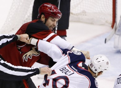 John Scott (left) was the subject of one of the week's best pieces of sportswriting.