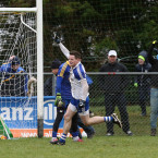 Conor McManus celebrates netting against Roscommon in Kiltoom.<span class=