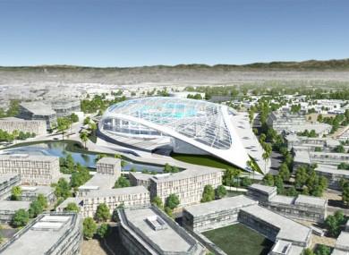 The proposed Inglewood stadium.