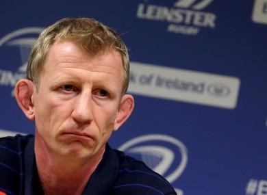 Leo Cullen faced the media in UCD earlier.