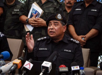National Police Chief Khalid Abu Bakar says officers will have to pass a fitness test