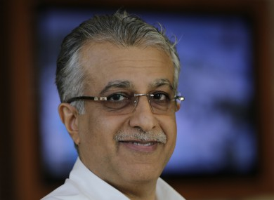 Sheikh Salman is currently president of the Asian Football Confederation (AFC).