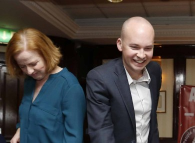 Ruth Coppinger and Paul Murphy at the launch today.