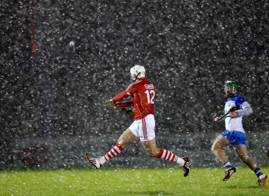 Cork's Patrick Cronin gets a shot away against Waterford.