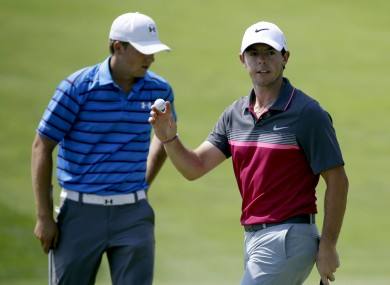 Rory McIlory and Jordan Spieth went head-to-head over night.