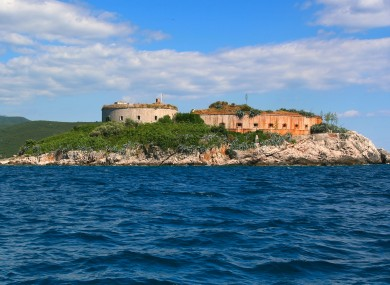 The Island of Mamula fortress, at the entrance to the Boka Kotor Bay, Montenegro.